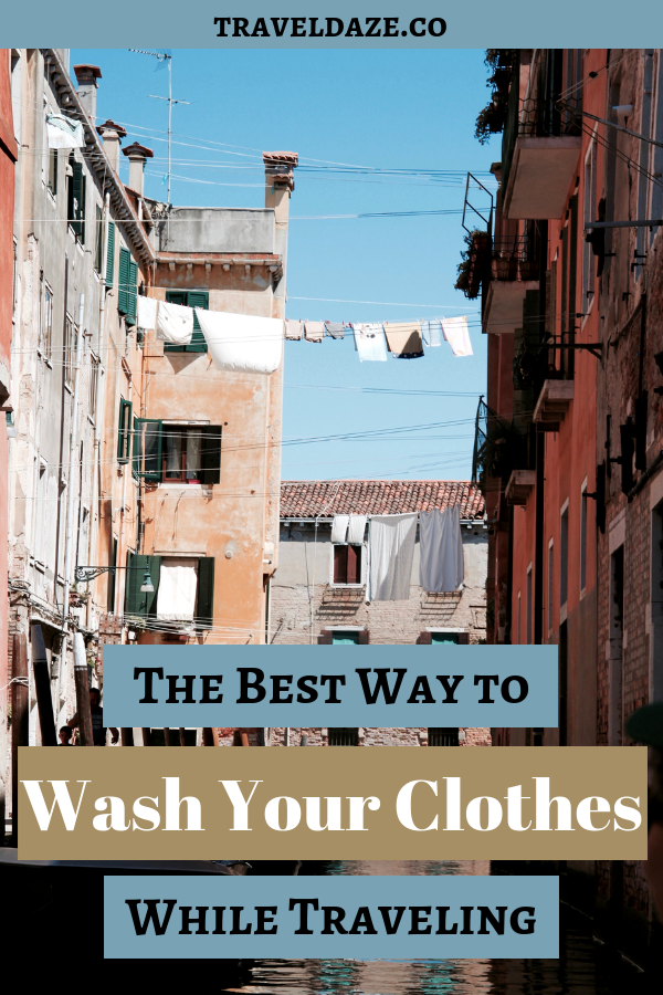 photo of laundry hanging from clotheslines between buildings with text overlay