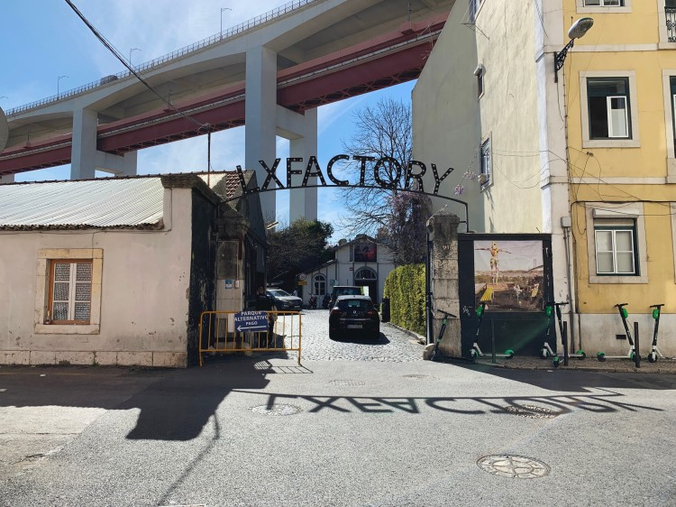 LX Factory sign in Lisbon, Portugal