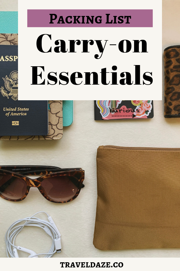 packing list carry-on essentials