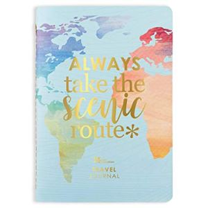 """travel planner with text on front """"always take the scenic route"""""""