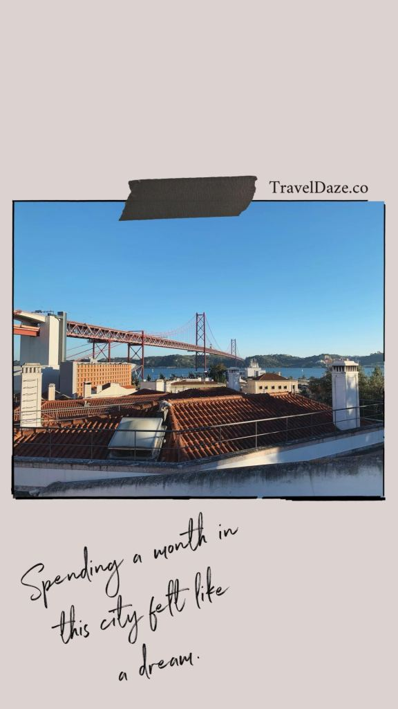 collage layout with photo of Lisbon