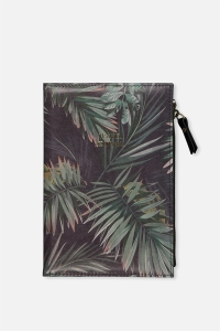 travel journal with palm tree design on front cover