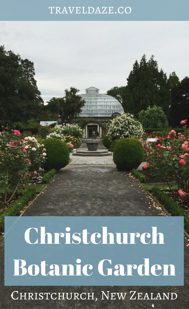 Visit the Christchurch Botanic Garden, one of many FREE attractions in Christchurch, New Zealand