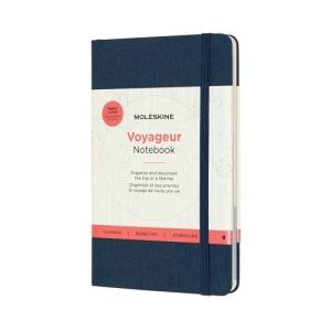 dark blue moleskine notebook