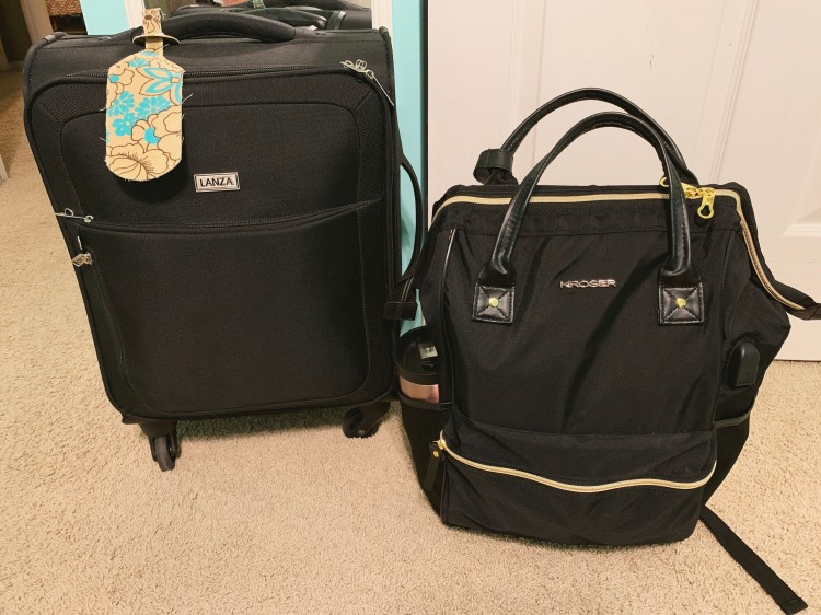 personal item size laptop backpack