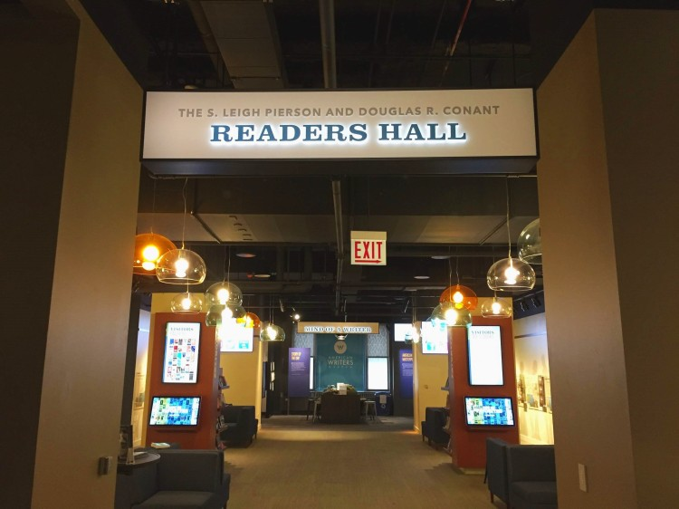 readers hall at the American Writers Museum Chicago