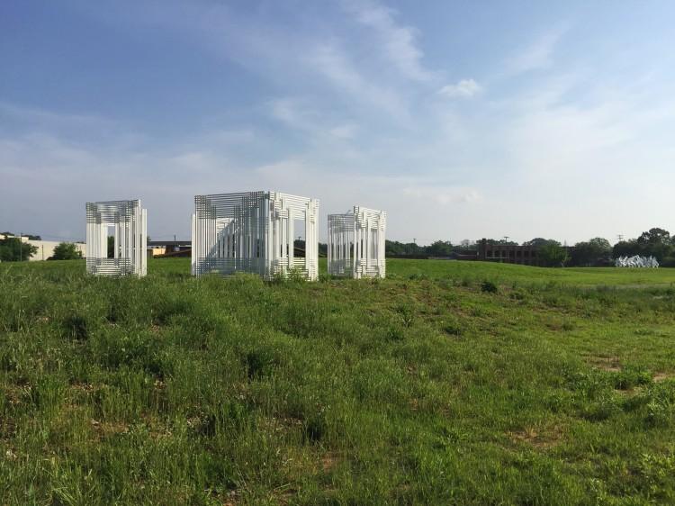 sculpture in a field