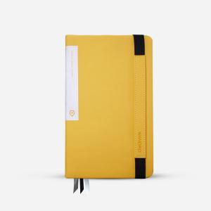 yellow travel journal