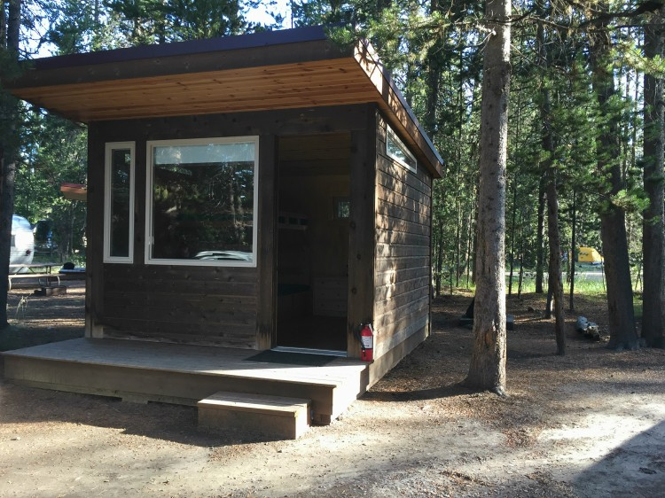 Headwaters Lodge is the perfect accommodation between Grand Teton & Yellowstone. The camper cabins are a fun option for camping in Grand Teton National Park.