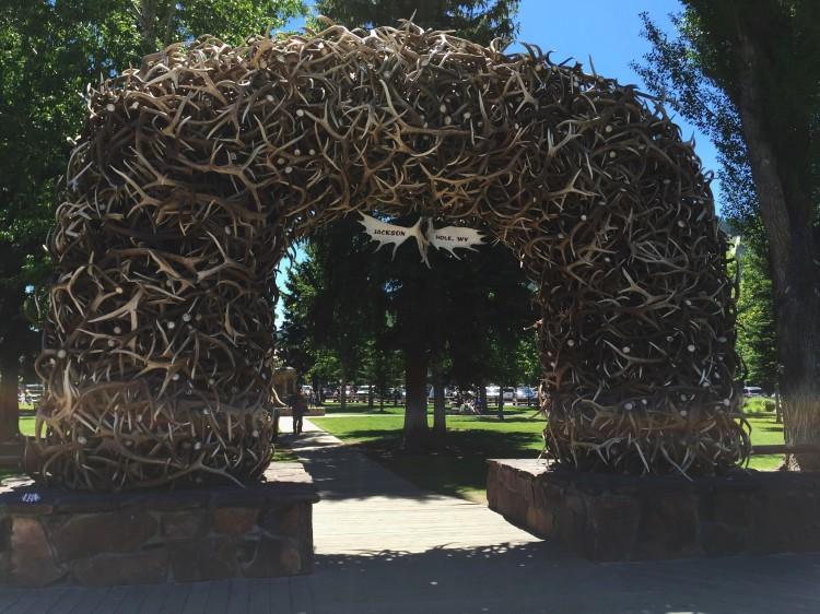Jackson Hole, Wyoming elk Antler Arch