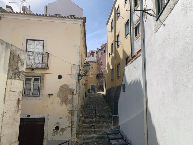 alleyways in Lisbon
