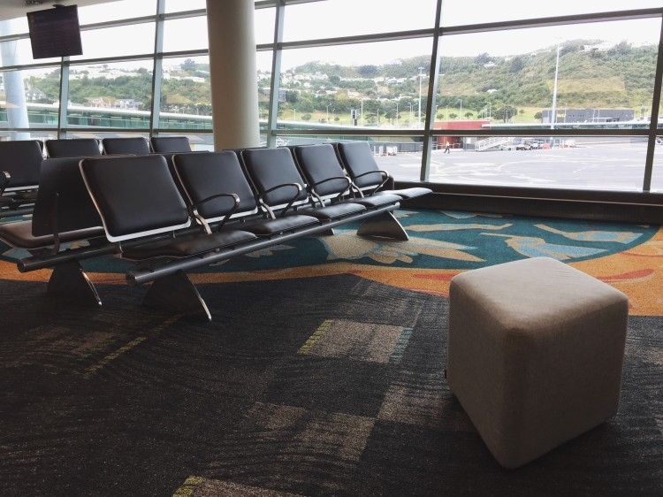 seating inside of an empty airport