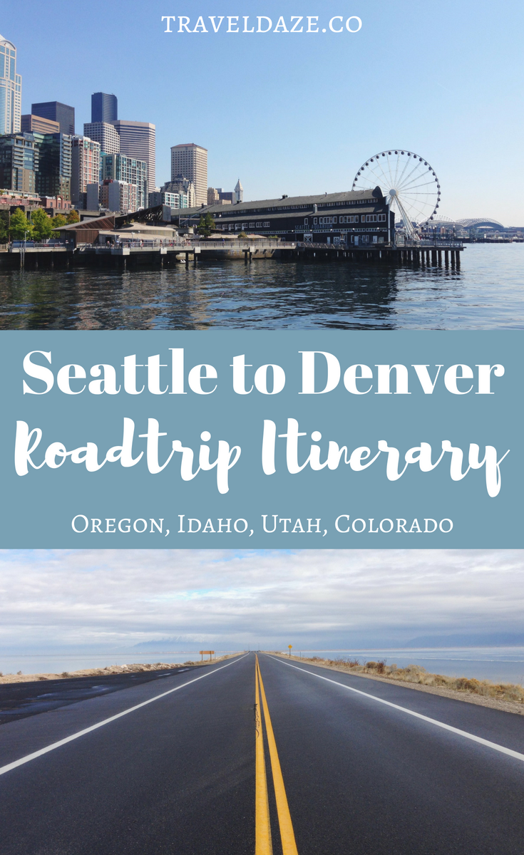 Seattle to Denver Road trip Itinerary: 2 week road trip from Seattle to Denver, with stop in Oregon, Utah, and Colorado. Lots of ideas & things to do to inspire your next USA road trip!