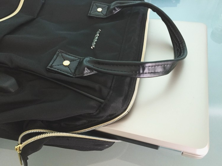 laptop in backpack