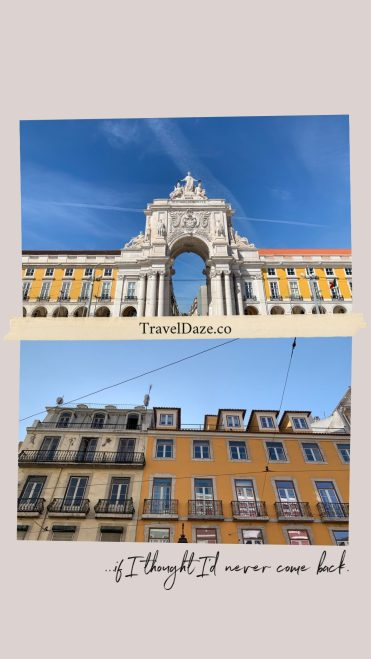 collage layout with photos of buildings in Lisbon