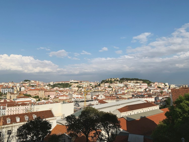 view of Lisbon from a miradouro