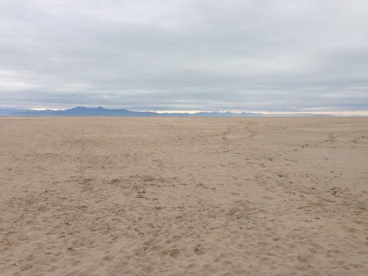expansive sand bank