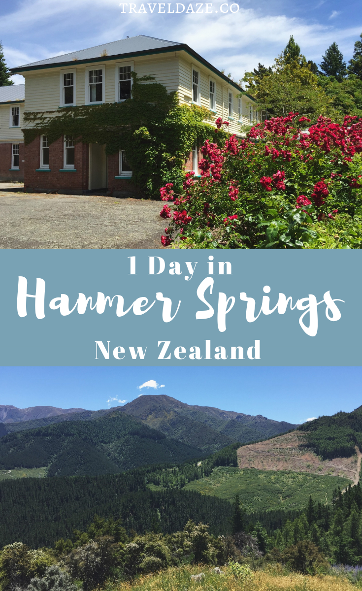 1 Day in Hanmer Springs, New Zealand: Enjoy the hot pools, the beautiful scenery, and the simple life in Hanmer Springs. This quick guide will show you how to spend the perfect day. #newzealand #travel #1day #itinerary #traveldaze